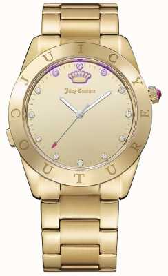 Juicy Couture Womans Connect Quartz Gold Tone 1901500