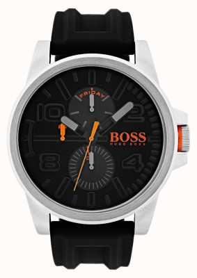 Hugo Boss Orange Detroit Black Rubber date and day display Watch 1550006