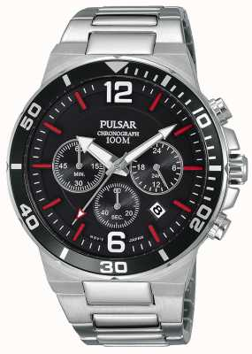 Pulsar Gents 100m Stainless Steel Chronograph Watch PT3797X1