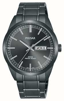 Pulsar Gents Grey Stainless Steel Watch PJ6075X1