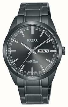 Pulsar Gents Grey Stainless Steel Watch PJ6075X1