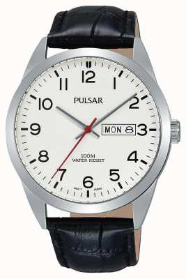 Pulsar Gents Classic Black Leather Watch PJ6065X1