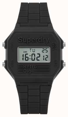 Superdry Mens Retro Digi Grey Silicone SYG201E