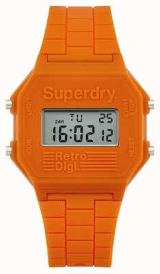Superdry Mens Retro Digi Orange Silicone SYG201O