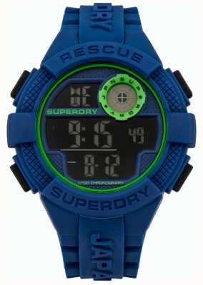 Superdry Mens Urban Radar Blue Silicone SYG193U