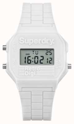 Superdry Retro Digi White Silicone SYL201W