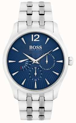 Boss Mens Commander Stainless Steel Bracelet Blue Dial 1513492