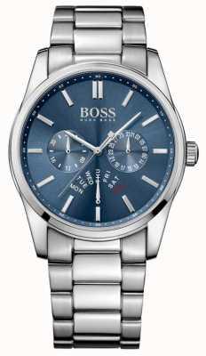 Hugo Boss Mens Commander Stainless Steel Bracelet Blue Dial 1513492