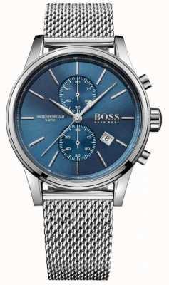Hugo Boss Mens Jet Stainless Steel Mesh Bracelet Blue Dial 1513441