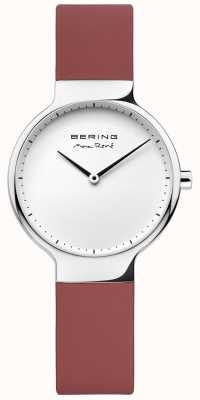 Bering ladies Max René Interchangeable Red Rubber Strap 15531-500