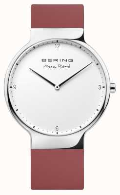 Bering Mens Max René Red Rubber Interchangeable Strap 15540-500