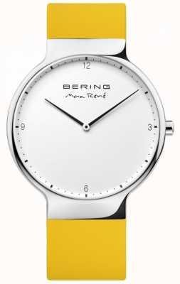 Bering Mens Max René Interchangeable Yellow Rubber Strap 15540-600
