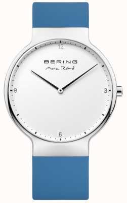 Bering Mens Max René Interchangeable Blue Rubber Strap 15540-700