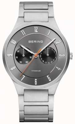 Bering Mens Titanium Grey Chronograph Watch 11539-779