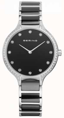 Bering Ladies Black Ceramic Zirconia Set Watch 30434-742