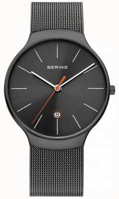 Bering Mens Classic Milanese Grey Mesh strap 13338-077