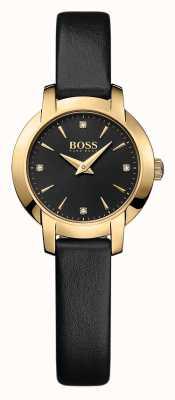 Hugo Boss Ladies Success Black Leather Watch 1502383