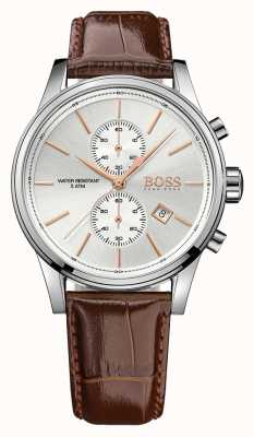 Boss Gents Jet Brown Leather Chrono Ex Display 1513280EX-DISPLAY