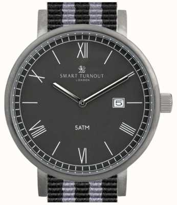 Smart Turnout County Watch- Black With Nato Strap STK1/BK/56/W
