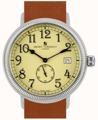 Smart Turnout Officer Watch - Beige With Tan Leather Strap STG3/BE/56/W