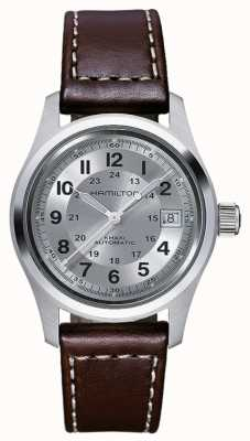 Hamilton Mens Khaki Field Auto 38mm Brown Leather H70455553