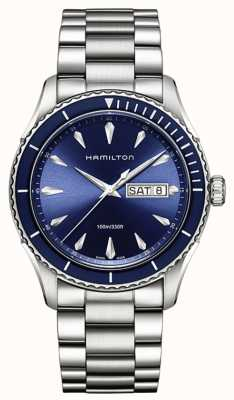 Hamilton Mens Jazzmaster Seaview Day Date Blue H37551141