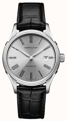 Hamilton Mens American Classic Valiant Auto Leather H39515754