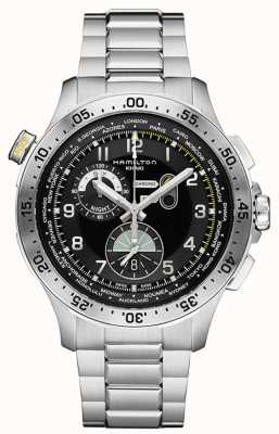 Hamilton Mens Khaki Aviation Worldtimer Chronograph Quartz H76714135