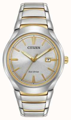 Citizen Mens Eco Drive Two Tone Paradigm AW1554-59H