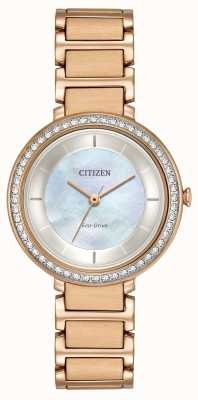 Citizen Womans Eco-Drive Silhouette Crystal Rose Gold EM0483-54D