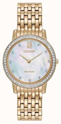 Citizen Womans Eco-Drive Silhouette Crystal Rose Gold EX1483-50D
