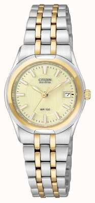Citizen Womans Eco-Drive Two Tone Corso EW0944-51P