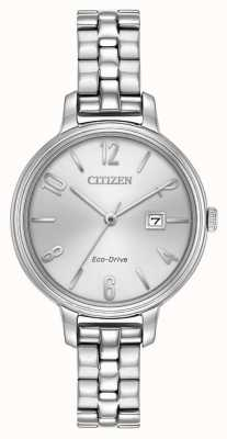 Citizen Womans Eco-Drive Silver Chandler EW2440-53A
