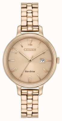 Citizen Womans Eco-Drive Rose Gold Chandler EW2443-55X