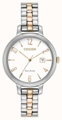 Citizen Womans Eco-Drive Silhouette Two Tone EW2446-57A