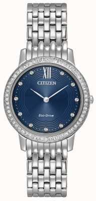 Citizen Womans Eco-Drive Silhouette Crystal Blue EX1480-58L