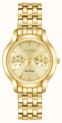 Citizen Womans Eco-Drive Silhouette Chandler Gold FD4012-51P