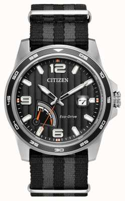 Citizen Mens Eco-Drive Power Reserve Black AW7030-06E