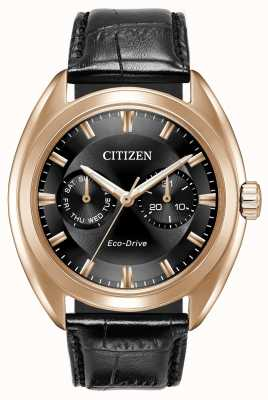 Citizen Mens Eco-Drive Paradex Black Leather BU4013-07H