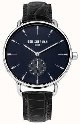 Ben Sherman Men's London Black Leather Strap Watch WB063UE
