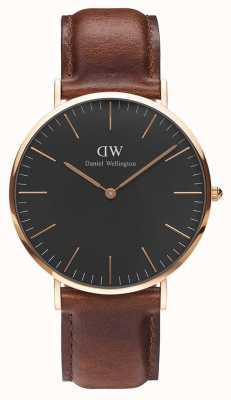 Daniel Wellington Unisex Classic St Mawes 40mm Black DW00100124