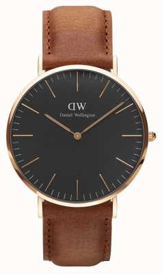 Daniel Wellington Unisex Classic Durham 40mm Black DW00100126