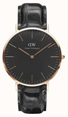 Daniel Wellington Unisex Classic Reading 40mm Black DW00100129