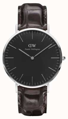 Daniel Wellington Mens Classic York 40mm Black DW00100134