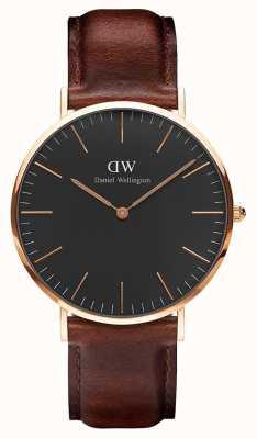 Daniel Wellington Unisex Classic St Mawes 36mm Black DW00100136