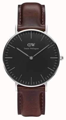 Daniel Wellington Unisex Classic Bristol 36mm Black DW00100143