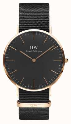 Daniel Wellington Unisex Classic Cornwall 40mm Black DW00100148