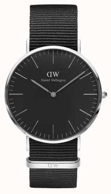 Daniel Wellington Unisex Classic Cornwall 40mm Black DW00100149