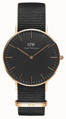 Daniel Wellington Unisex Classic Cornwall 36mm Black DW00100150