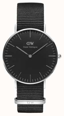 Daniel Wellington Unisex Classic Cornwall 36mm Black DW00100151